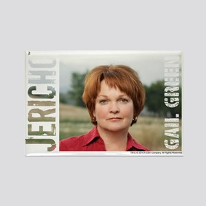 Jericho Gail Green Rectangle Magnet