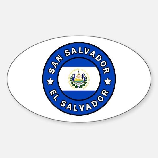 Cute El salvador flag Sticker (Oval)