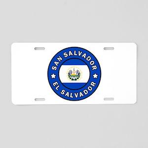 San Salvador Aluminum License Plate
