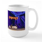 Friends Dont Let Friends Karaoke Ferret Large Mug