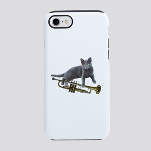 Cat with Trumpet iPhone 8/7 Tough Case