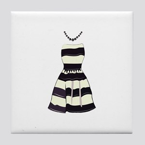 Striped Dress Tile Coaster