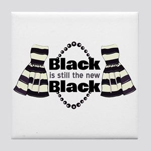 The New Black Tile Coaster