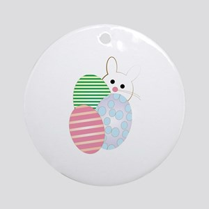 Easter Egg Bunny Round Ornament