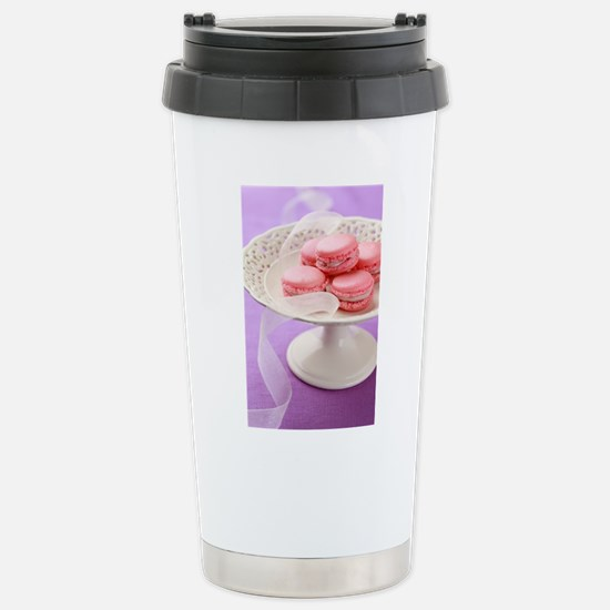 Pink macarons in a box Stainless Steel Travel Mug
