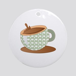 Coffee Cup Round Ornament