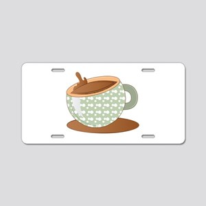 Coffee Cup Aluminum License Plate