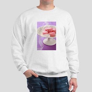 Pink macarons in a box Sweatshirt