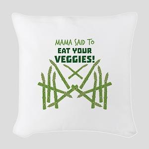 Eat Your Veggies Woven Throw Pillow