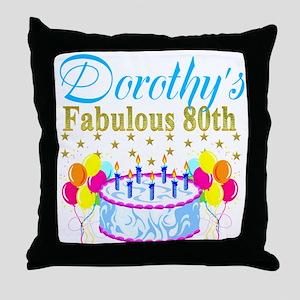CUSTOM 80TH Throw Pillow