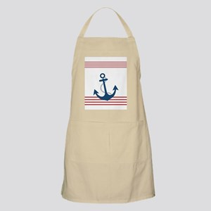 Nautical Stiped Design with Anchor Apron