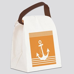 Nautical Stiped Design with Ancho Canvas Lunch Bag