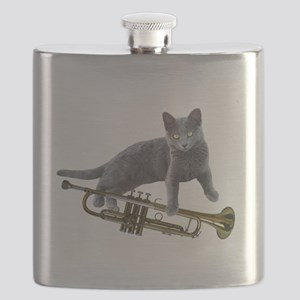 Cat with Trumpet Flask