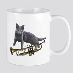 Cat with Trumpet Mugs