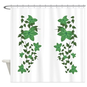Plant Nature Green Ivy Vines Shower Curtains