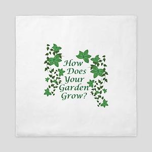 Garden Grow Queen Duvet