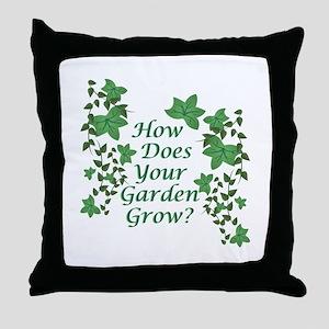 Garden Grow Throw Pillow