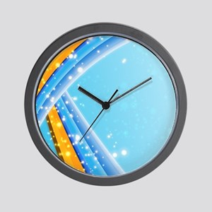 Blue Abstract Sparkling Wall Clock