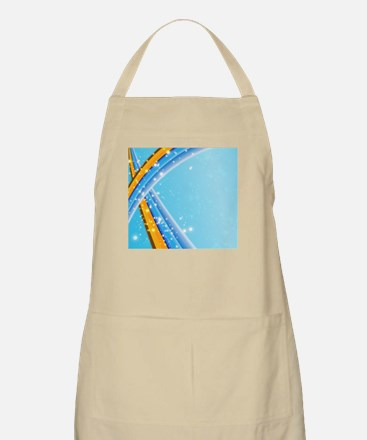 Blue Abstract Sparkling Apron