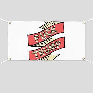 Hand Sketched Fuck Trump Banner