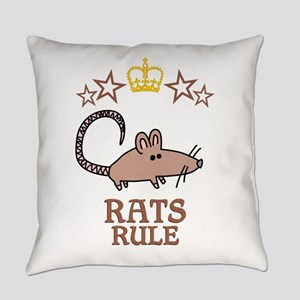 Rats Rule Everyday Pillow