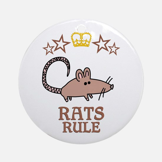 Rats Rule Round Ornament