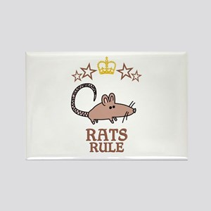 Rats Rule Rectangle Magnet