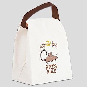 Rats Rule Canvas Lunch Bag