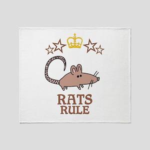 Rats Rule Throw Blanket