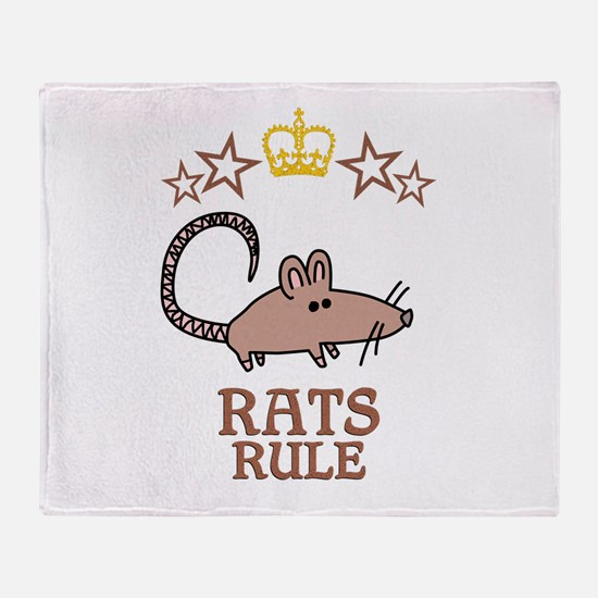 Rats Rule Throw Blanket