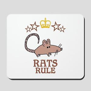 Rats Rule Mousepad