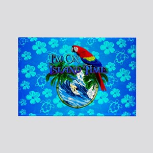 Blue Hibiscus Island Time Surfing Magnets