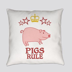 Pigs Rule Everyday Pillow
