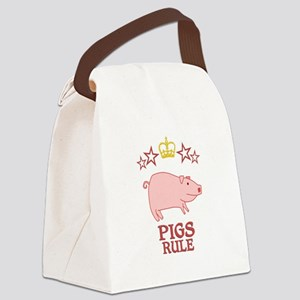 Pigs Rule Canvas Lunch Bag