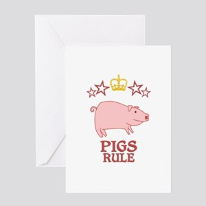 Pigs Rule Greeting Card