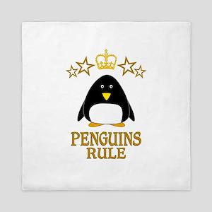 Penguins Rule Queen Duvet