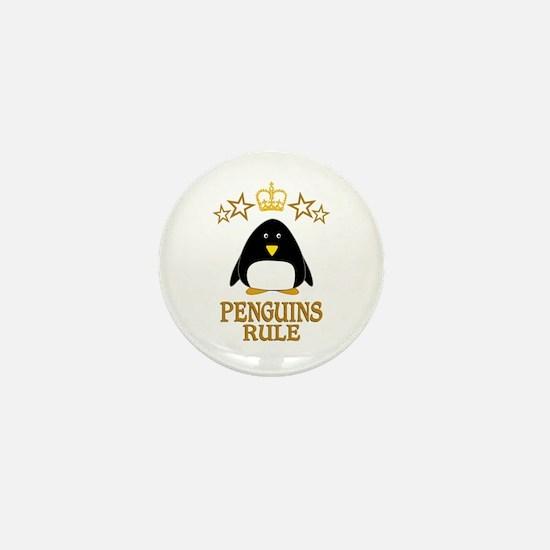 Penguins Rule Mini Button (10 pack)