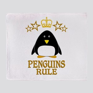 Penguins Rule Throw Blanket