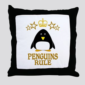 Penguins Rule Throw Pillow