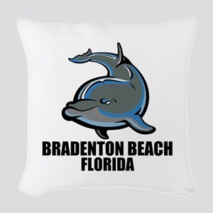Bradenton Beach, Florida Woven Throw Pillow