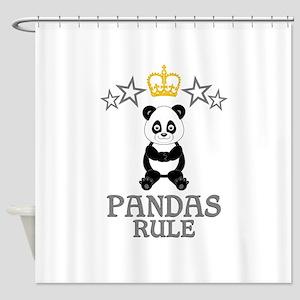 Pandas Rule Shower Curtain