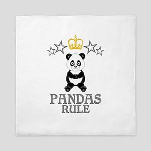Pandas Rule Queen Duvet
