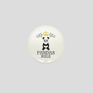 Pandas Rule Mini Button