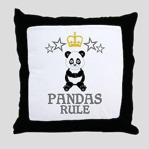 Pandas Rule Throw Pillow