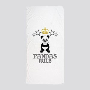 Pandas Rule Beach Towel