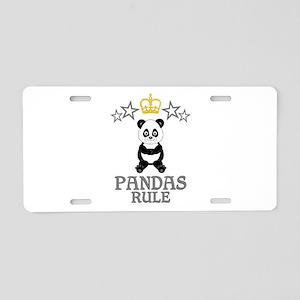 Pandas Rule Aluminum License Plate