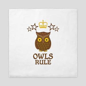 Owls Rule Queen Duvet