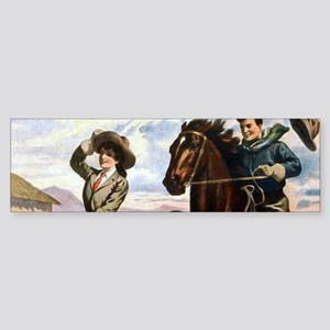 Wild West American Cowboys Bumper Sticker