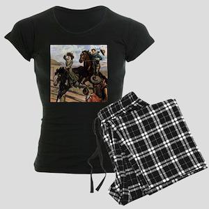 Wild West American Cowboys Women's Dark Pajamas