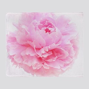 pink peony Throw Blanket
